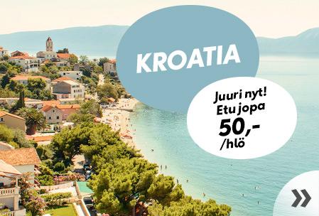 Kroatia – etu jopa 50,-/hlö