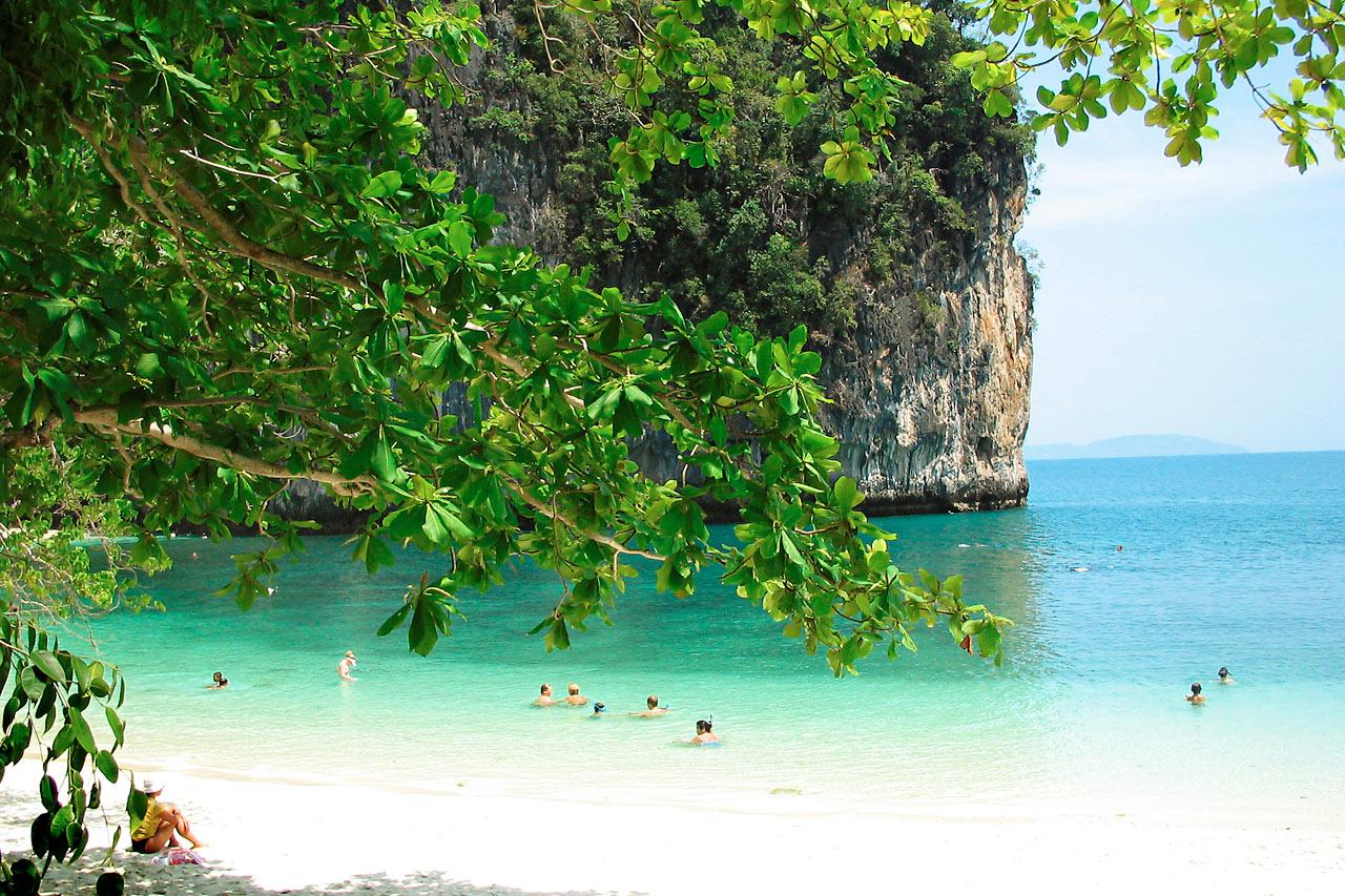 Thaimaa - Koh Hong, retkikohde Ao Nangista, Krabilta